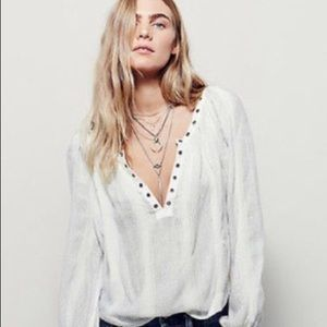 """Free People """"Against All Odds"""" Blouse"""